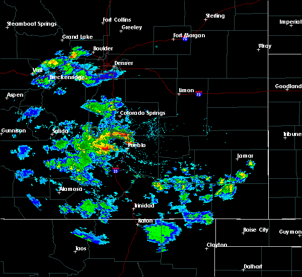Radar Image for Severe Thunderstorms near Pueblo West, CO at 5/30/2020 4:45 PM MDT