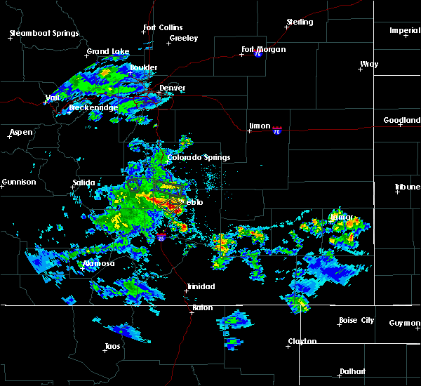 Radar Image for Severe Thunderstorms near Pueblo West, CO at 5/30/2020 5:29 PM MDT