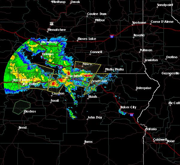 Radar Image for Severe Thunderstorms near Klickitat, WA at 5/30/2020 4:37 PM PDT