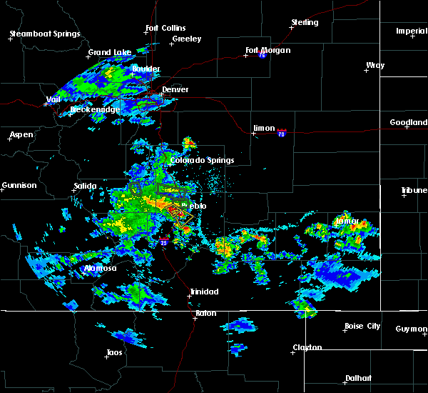 Radar Image for Severe Thunderstorms near Pueblo, CO at 5/30/2020 5:40 PM MDT
