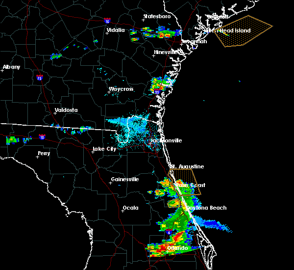 Radar Image for Severe Thunderstorms near Bunnell, FL at 5/30/2020 7:42 PM EDT