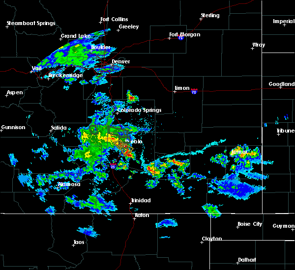Radar Image for Severe Thunderstorms near Pueblo, CO at 5/30/2020 5:52 PM MDT