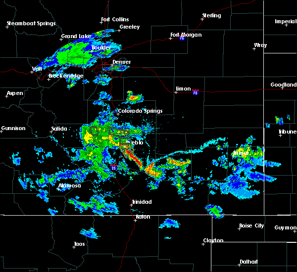 Radar Image for Severe Thunderstorms near Pueblo, CO at 5/30/2020 6:05 PM MDT