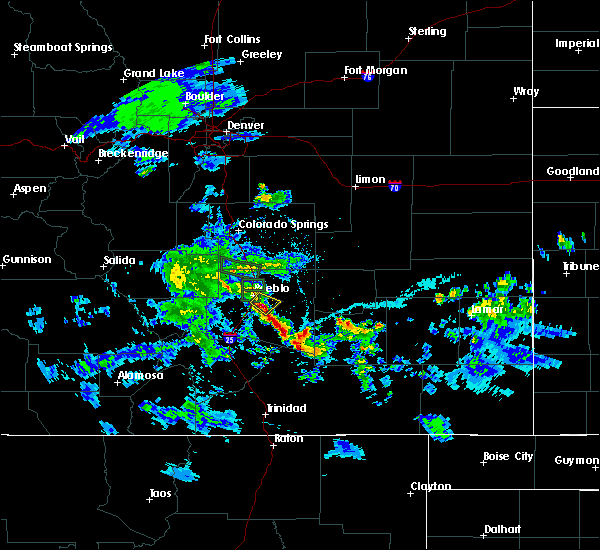 Radar Image for Severe Thunderstorms near Pueblo, CO at 5/30/2020 6:17 PM MDT