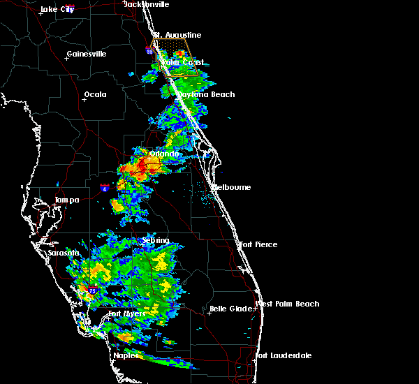 Radar Image for Severe Thunderstorms near Buenaventura Lakes, FL at 5/30/2020 8:20 PM EDT