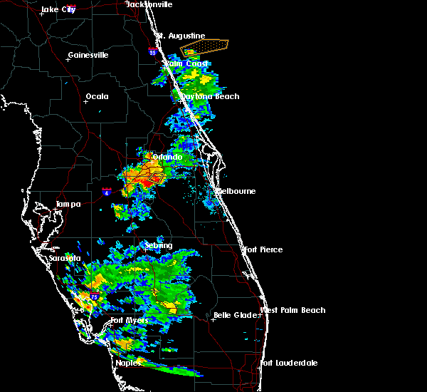Radar Image for Severe Thunderstorms near Buenaventura Lakes, FL at 5/30/2020 8:35 PM EDT