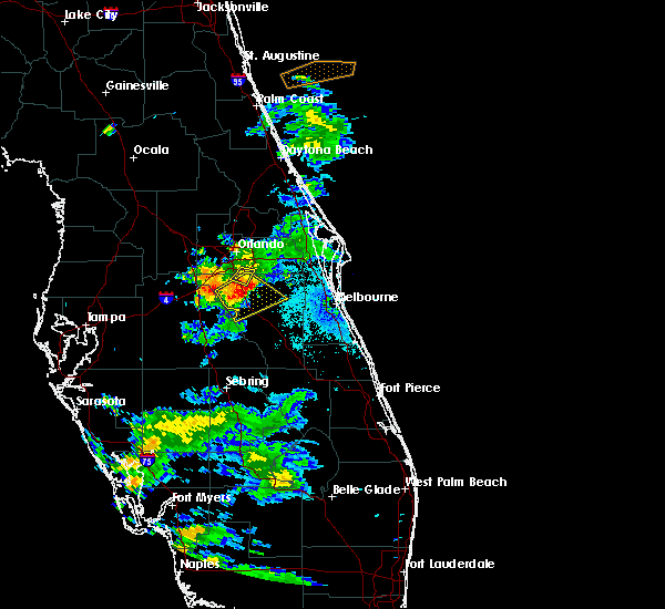 Radar Image for Severe Thunderstorms near Buenaventura Lakes, FL at 5/30/2020 8:47 PM EDT