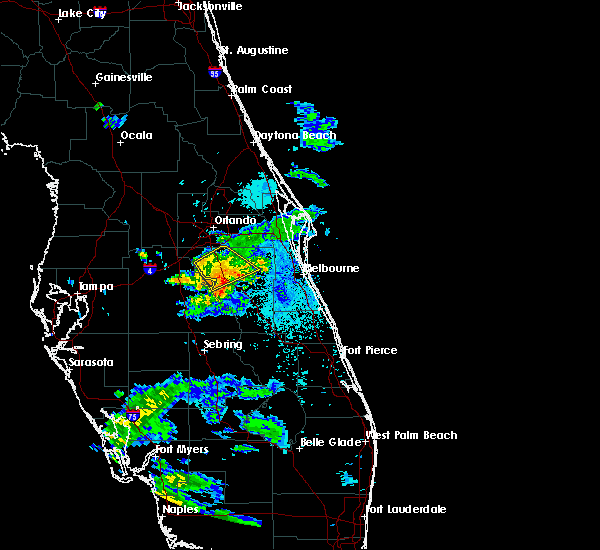 Radar Image for Severe Thunderstorms near Buenaventura Lakes, FL at 5/30/2020 9:28 PM EDT