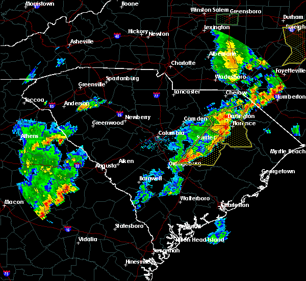 Radar Image for Severe Thunderstorms near Orangeburg, SC at 6/27/2015 7:59 PM EDT