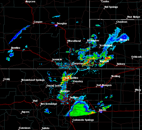 Radar Image for Severe Thunderstorms near Pine Bluffs, WY at 5/31/2020 4:59 PM MDT
