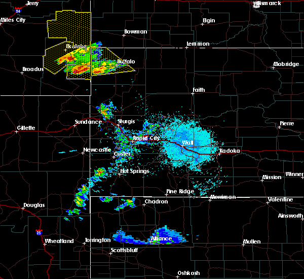 Radar Image for Severe Thunderstorms near Buffalo, SD at 5/31/2020 7:12 PM MDT