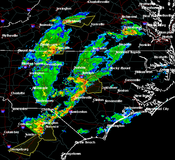 Radar Image for Severe Thunderstorms near Kenly, NC at 6/27/2015 8:03 PM EDT