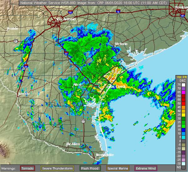 Radar Image for Severe Thunderstorms near Lamar, TX at 6/1/2020 11:04 AM CDT