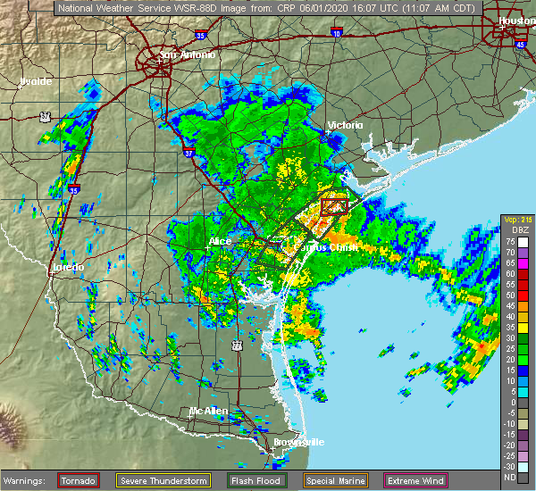 Radar Image for Severe Thunderstorms near Lamar, TX at 6/1/2020 11:12 AM CDT