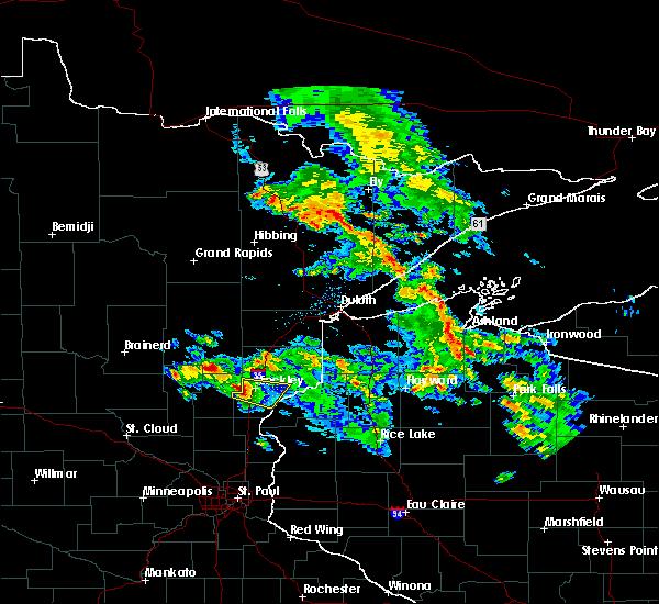 Radar Image for Severe Thunderstorms near Brook Park, MN at 6/1/2020 11:41 AM CDT