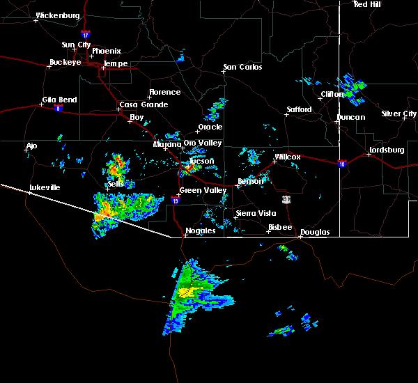 Radar Image for Severe Thunderstorms near Littletown, AZ at 6/1/2020 5:04 PM MST