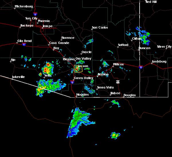 Radar Image for Severe Thunderstorms near Littletown, AZ at 6/1/2020 5:26 PM MST