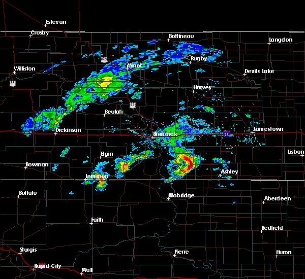 Radar Image for Severe Thunderstorms near Ashley, ND at 6/2/2020 7:03 AM CDT