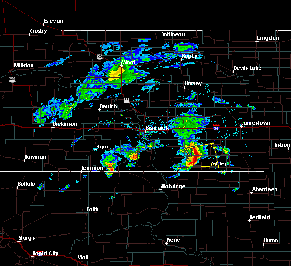 Radar Image for Severe Thunderstorms near Ashley, ND at 6/2/2020 7:18 AM CDT