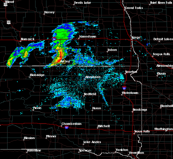 Radar Image for Severe Thunderstorms near Edgeley, ND at 6/2/2020 7:42 AM CDT
