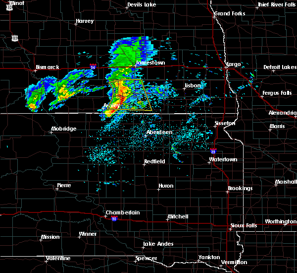 Radar Image for Severe Thunderstorms near Edgeley, ND at 6/2/2020 8:02 AM CDT