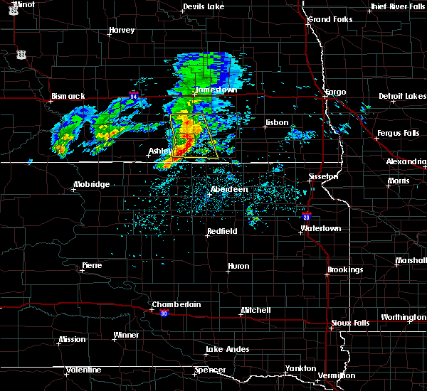 Radar Image for Severe Thunderstorms near Edgeley, ND at 6/2/2020 8:13 AM CDT