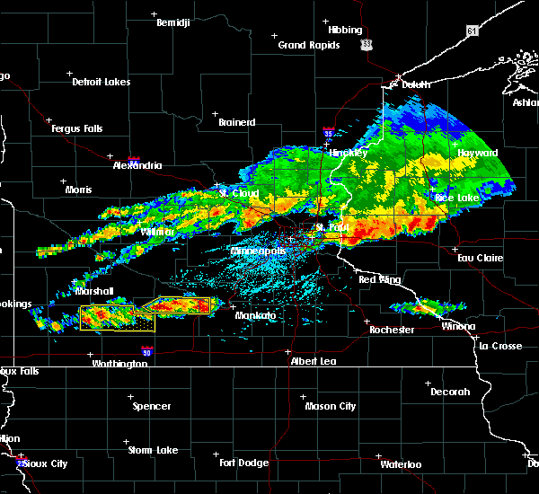 Radar Image for Severe Thunderstorms near Comfrey, MN at 6/2/2020 4:43 PM CDT