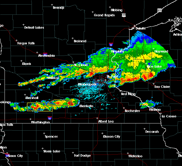 Radar Image for Severe Thunderstorms near Vernon Center, MN at 6/2/2020 4:51 PM CDT