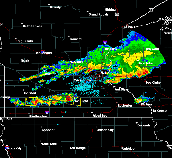 Radar Image for Severe Thunderstorms near Comfrey, MN at 6/2/2020 4:57 PM CDT
