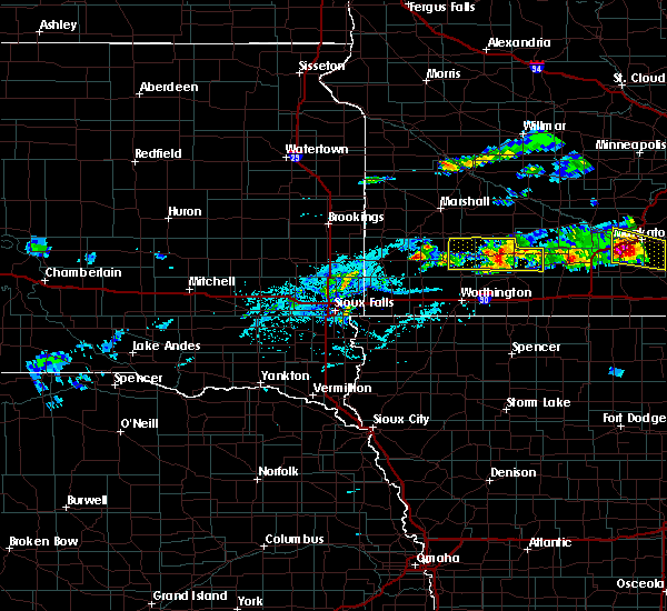 Radar Image for Severe Thunderstorms near Currie, MN at 6/2/2020 5:06 PM CDT
