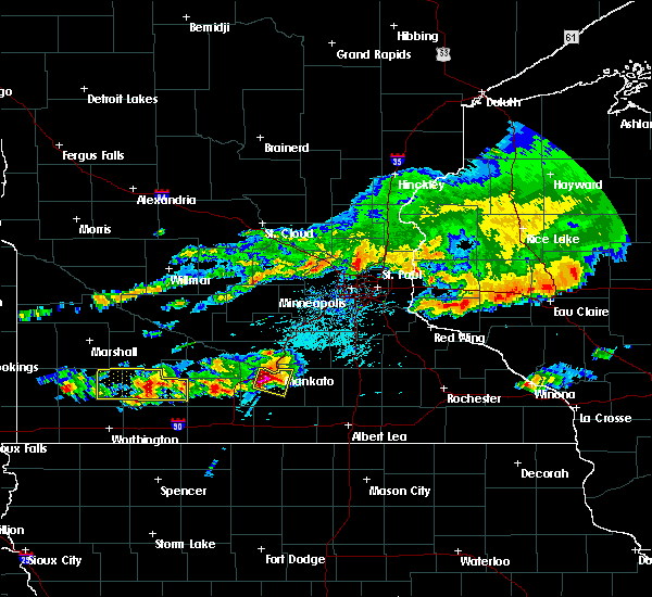Radar Image for Severe Thunderstorms near Mankato, MN at 6/2/2020 5:08 PM CDT