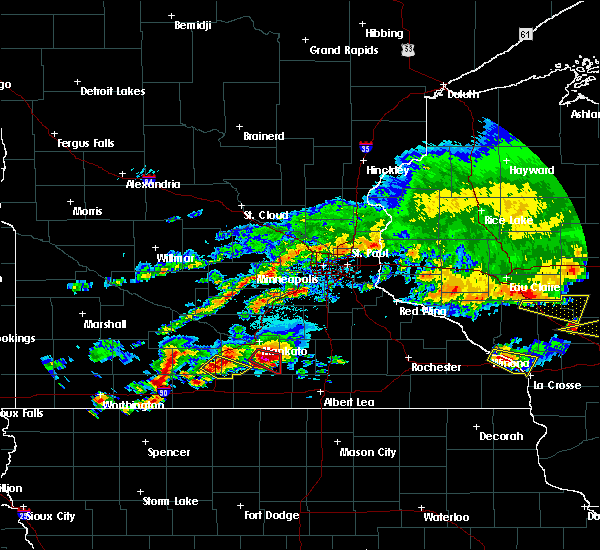 Radar Image for Severe Thunderstorms near New Richland, MN at 6/2/2020 5:42 PM CDT