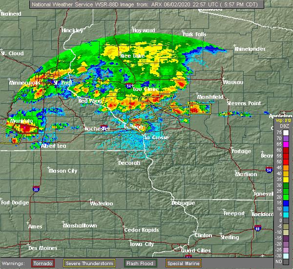 Radar Image for Severe Thunderstorms near Dakota, MN at 6/2/2020 6:01 PM CDT