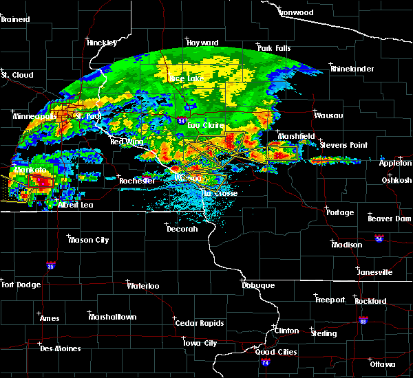 Radar Image for Severe Thunderstorms near Minnesota City, MN at 6/2/2020 6:10 PM CDT