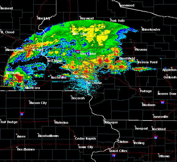 Radar Image for Severe Thunderstorms near Hatfield, WI at 6/2/2020 6:12 PM CDT