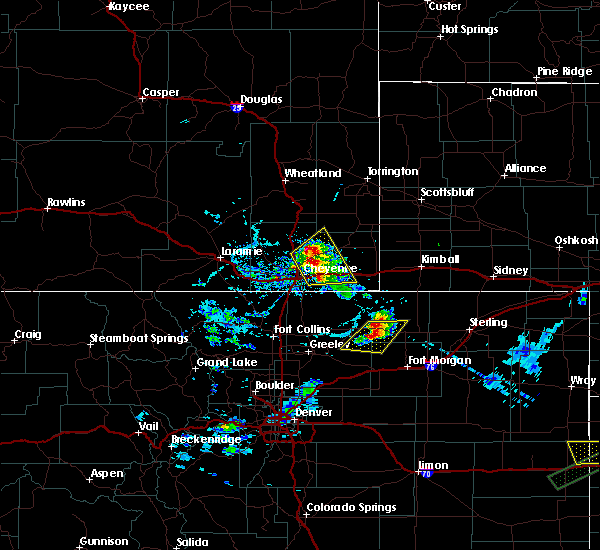 Radar Image for Severe Thunderstorms near Hillsdale, WY at 6/2/2020 5:20 PM MDT