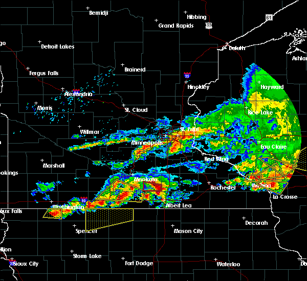 Radar Image for Severe Thunderstorms near Hartland, MN at 6/2/2020 6:21 PM CDT