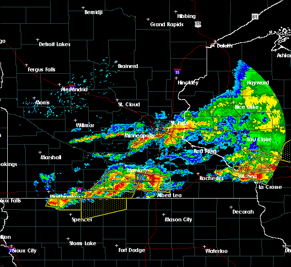 Radar Image for Severe Thunderstorms near New Richland, MN at 6/2/2020 6:25 PM CDT
