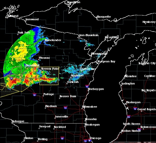 Radar Image for Severe Thunderstorms near Bancroft, WI at 6/2/2020 6:45 PM CDT