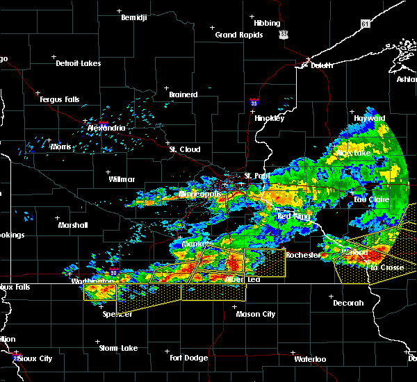 Radar Image for Severe Thunderstorms near Hartland, MN at 6/2/2020 6:52 PM CDT