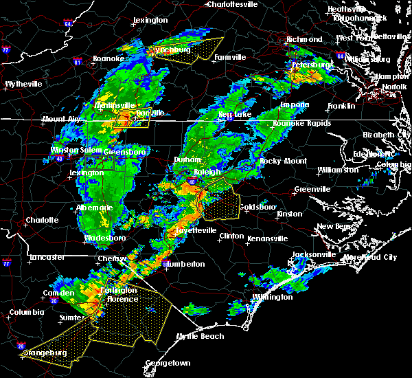 Radar Image for Severe Thunderstorms near Kenly, NC at 6/27/2015 8:19 PM EDT