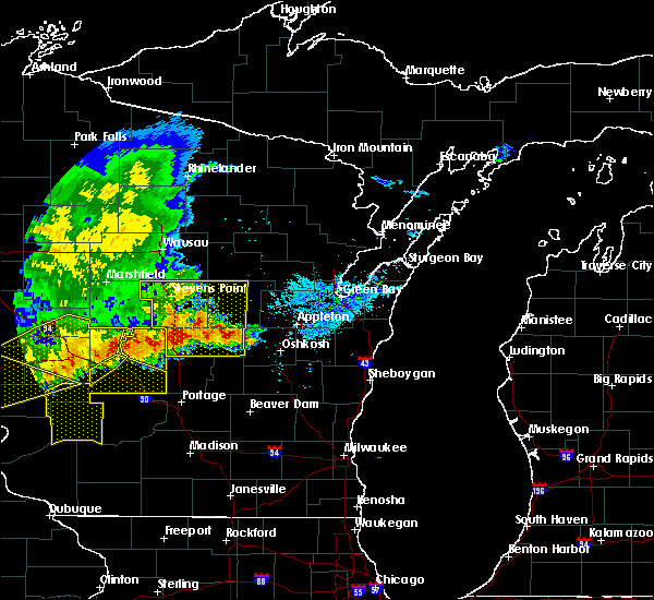Radar Image for Severe Thunderstorms near Bancroft, WI at 6/2/2020 7:12 PM CDT