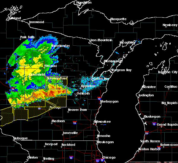 Radar Image for Severe Thunderstorms near Bancroft, WI at 6/2/2020 7:24 PM CDT