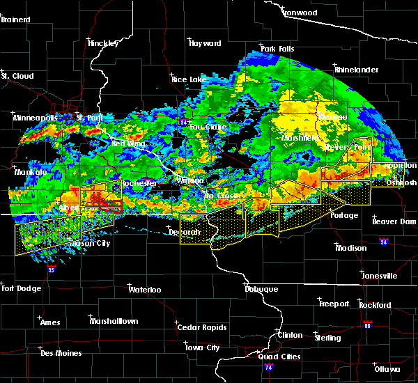 Radar Image for Severe Thunderstorms near Taopi, MN at 6/2/2020 7:41 PM CDT