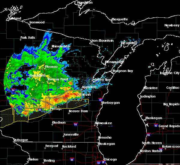 Radar Image for Severe Thunderstorms near Van Dyne, WI at 6/2/2020 7:54 PM CDT