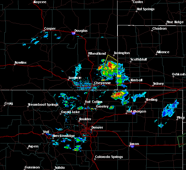Radar Image for Severe Thunderstorms near Hawk Springs, WY at 6/2/2020 6:54 PM MDT