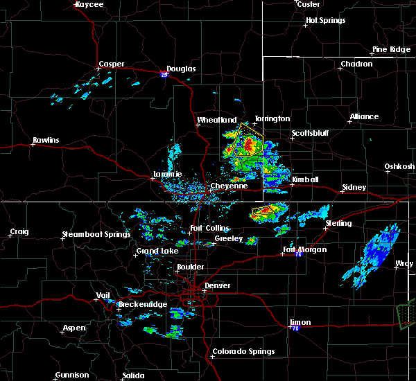 Radar Image for Severe Thunderstorms near Hawk Springs, WY at 6/2/2020 7:02 PM MDT
