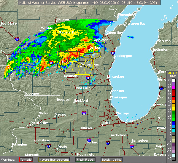 Radar Image for Severe Thunderstorms near Madison, WI at 6/2/2020 8:09 PM CDT