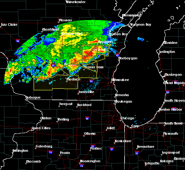 Radar Image for Severe Thunderstorms near Portage, WI at 6/2/2020 8:20 PM CDT