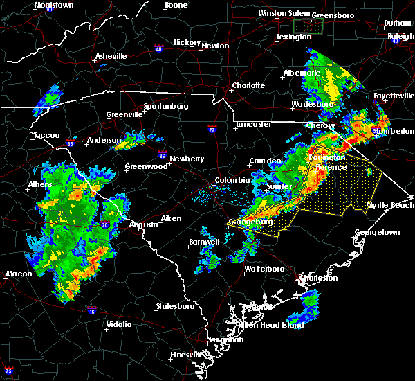 Radar Image for Severe Thunderstorms near Manning, SC at 6/27/2015 8:22 PM EDT